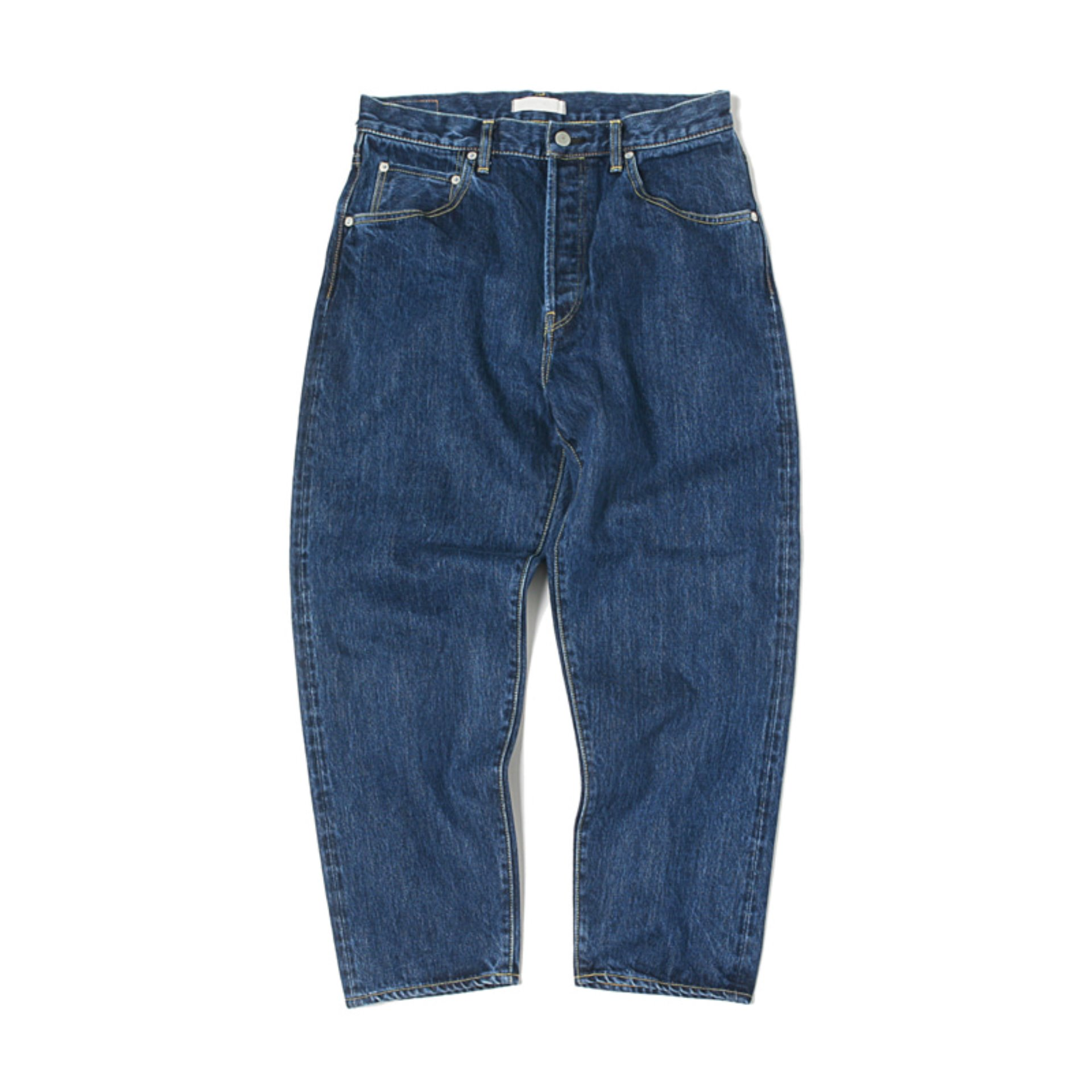 HATSKI LOOSE TAPERED DENIM PANTS(MID BLUE)