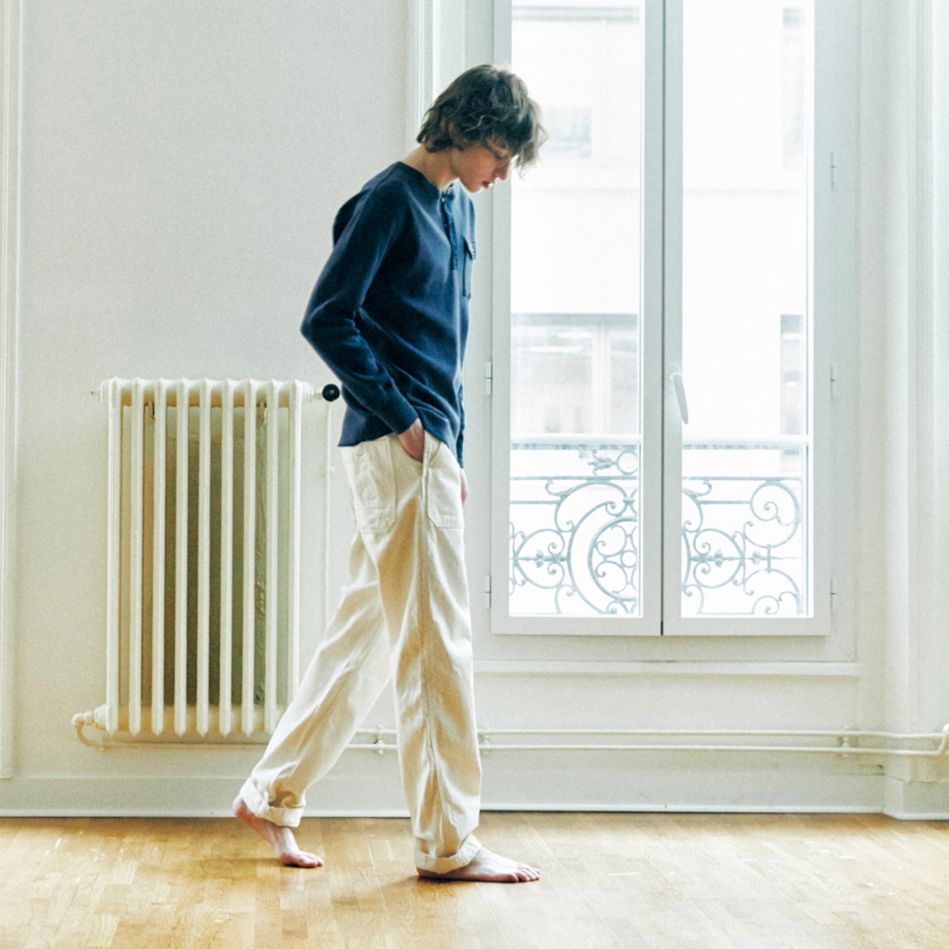 (재입고) CWE-002 6 Pockets Baker Ecru Pants (Slim Straight - ECRU)