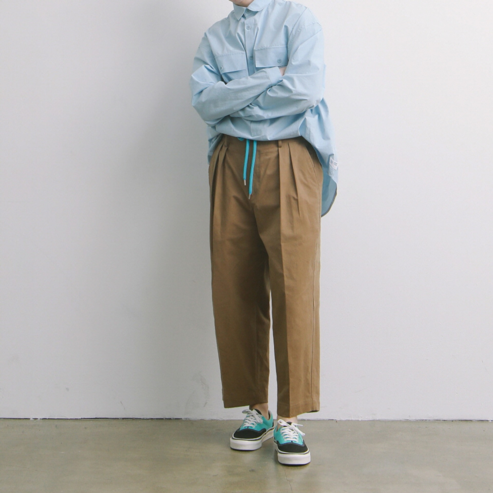 Lobby Boy Wide Tapered Easy Pants (Cafe)