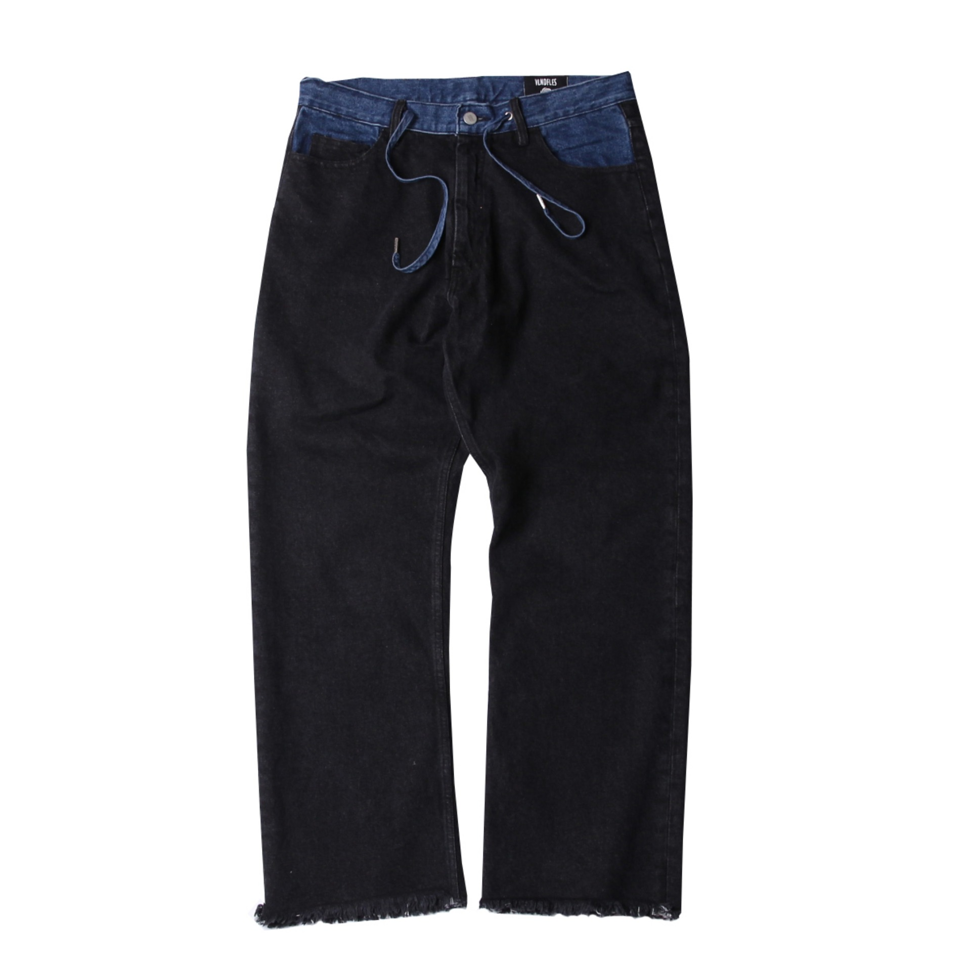 ARRANGEMENT DENIM PANTS(BLACK)