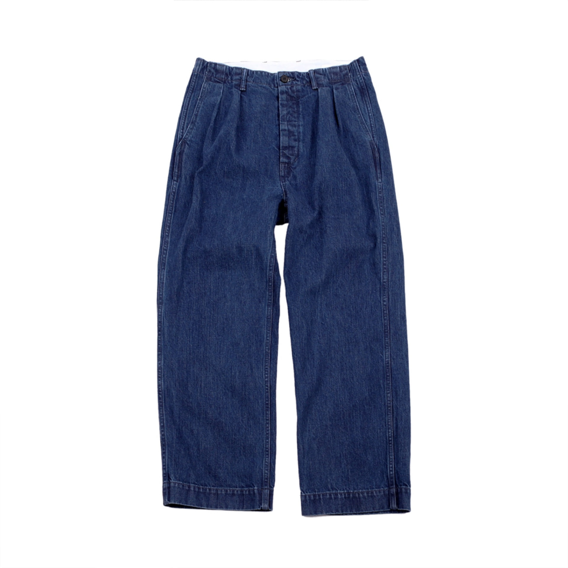 HATSKI 2TUCK DENIM TROUSER(BLUE)