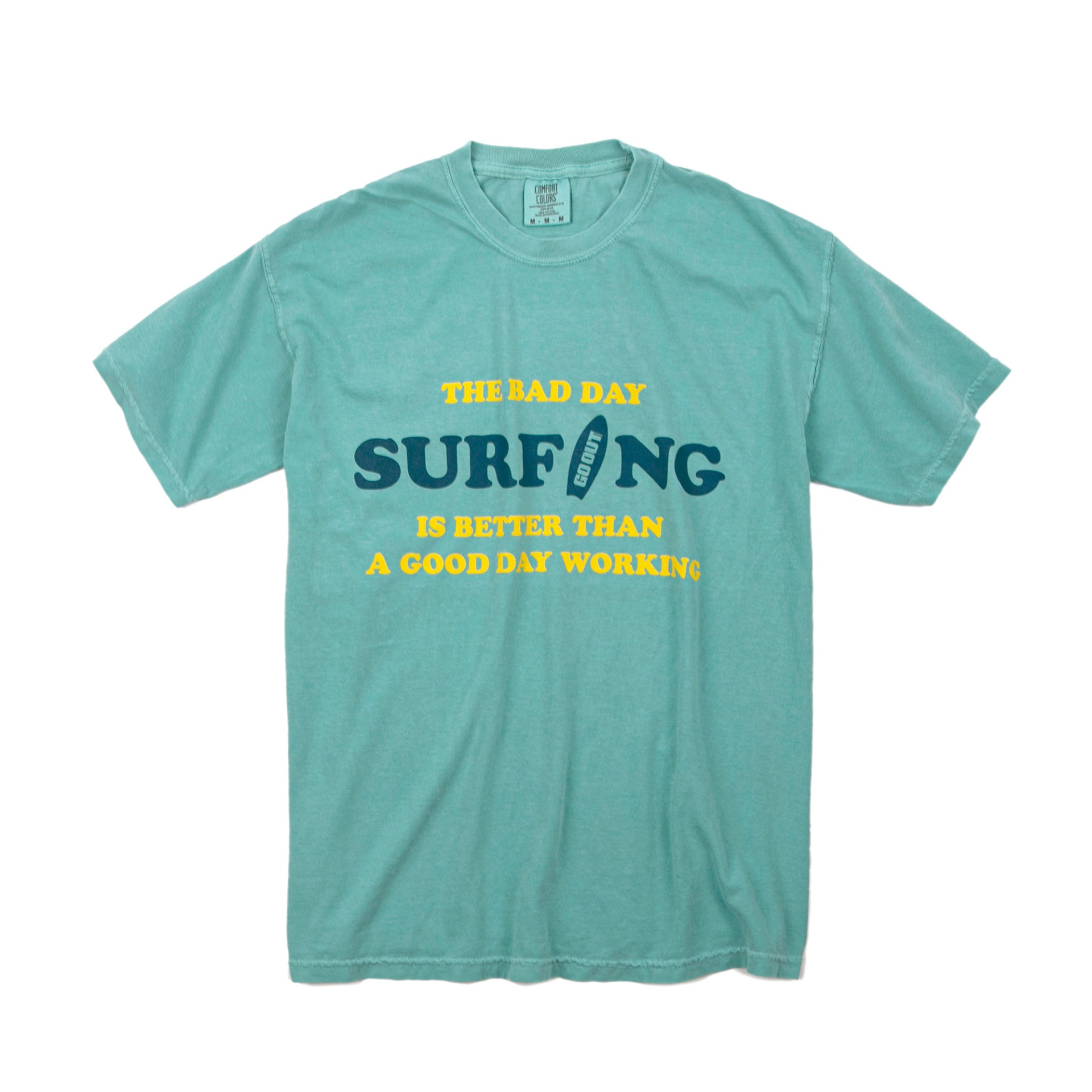 GARMENT DYEINGBAD DAY SURFING S/S T-SHIRTS(SEA)