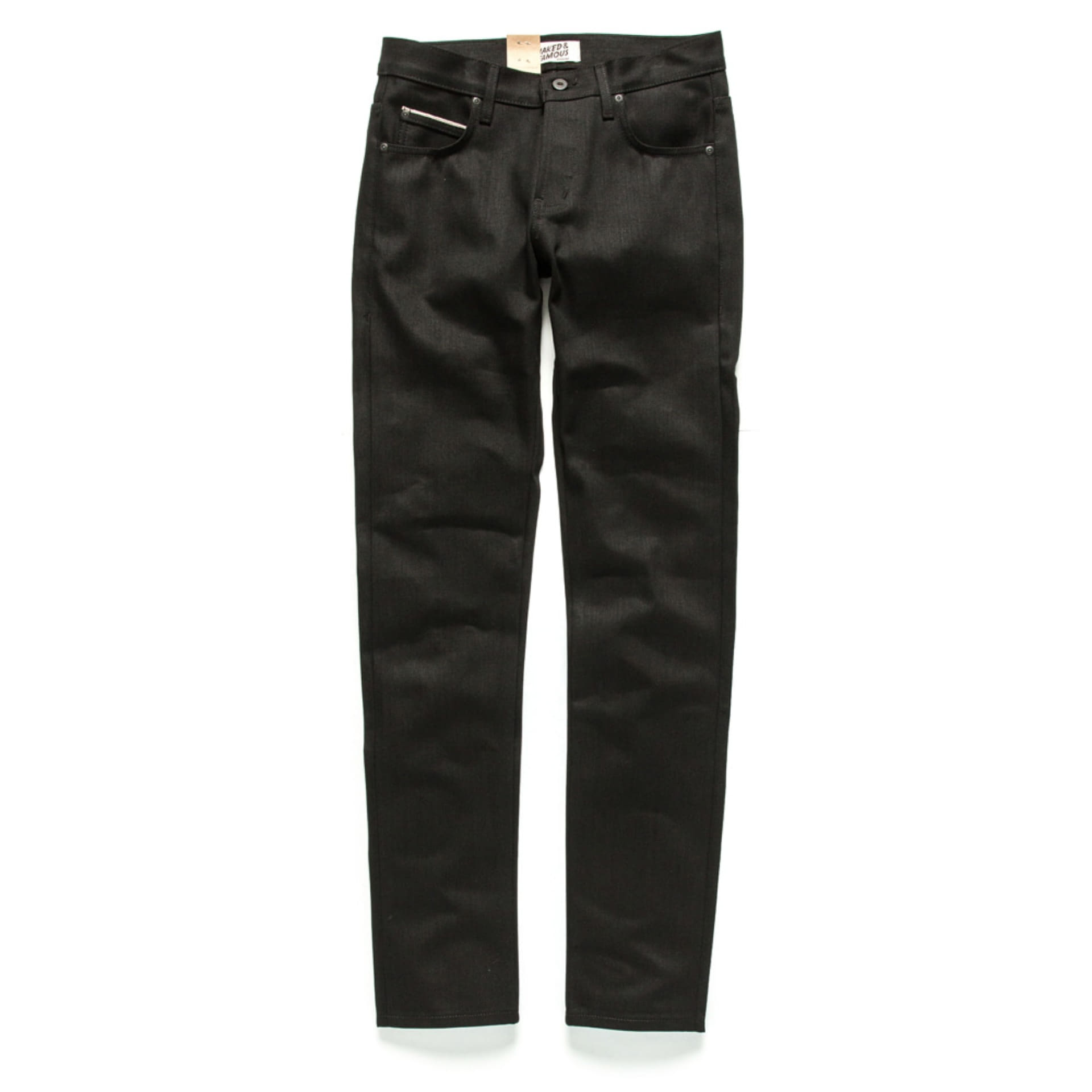 SUPERSKINNYGUY SOLID BLACK SELVEDGE