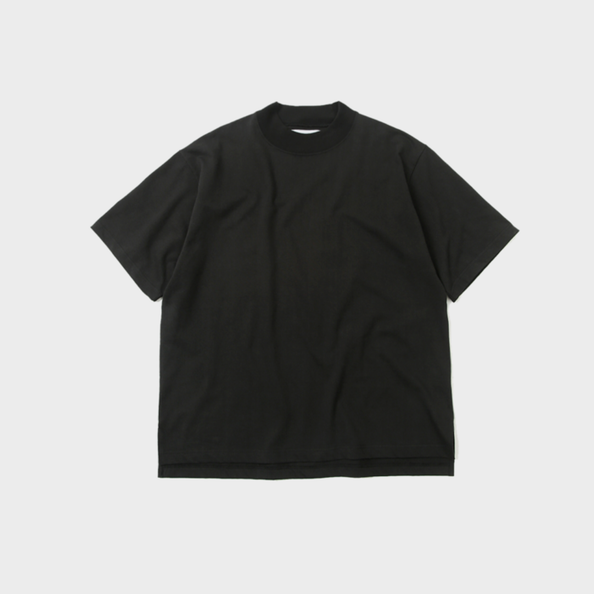 HEAVYWEIGT MOCK NESCK T (BLACK)
