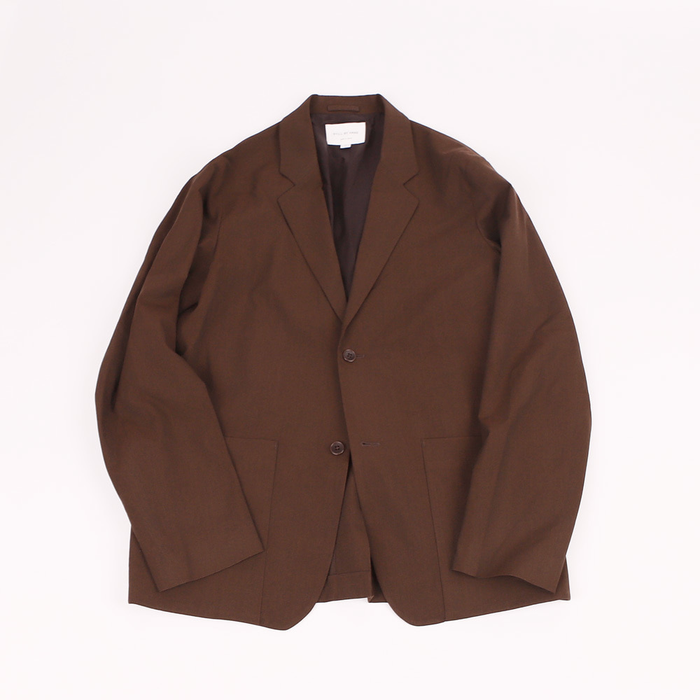 STILL BY HAND RELAX 2B JACKET Brown