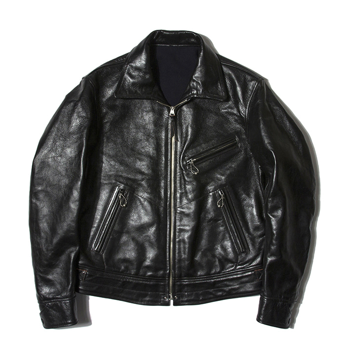 "[SPARTAN SPORTSWEAR]Leather Jacket""MULHOLLAND""(Vintage Black)"