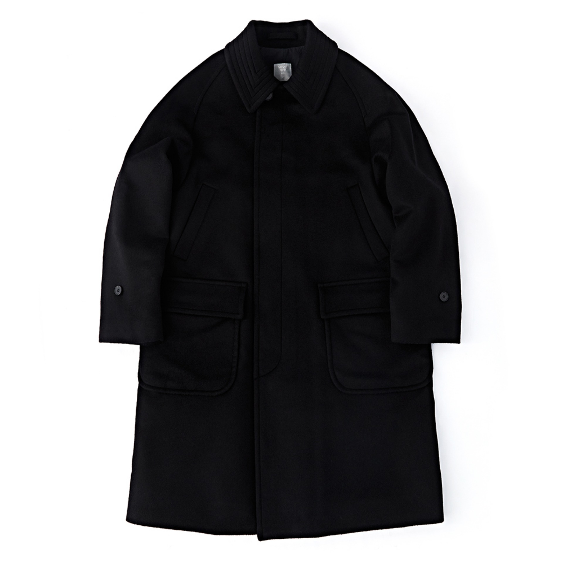 "Another Office""Voyager Balmaccan Coat""(Soft Black)"