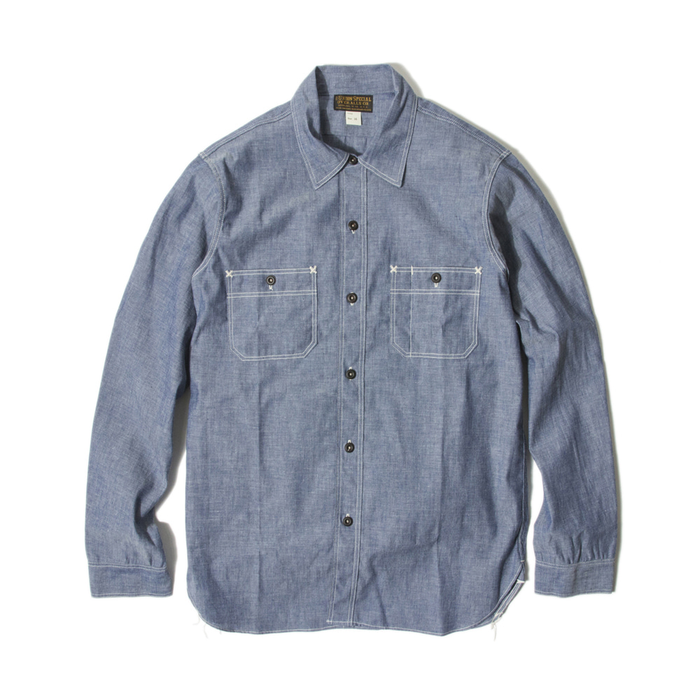 "[Union Special Ovealls]Work Shirt""NEAL""(Vintage Indigo Chambray)"