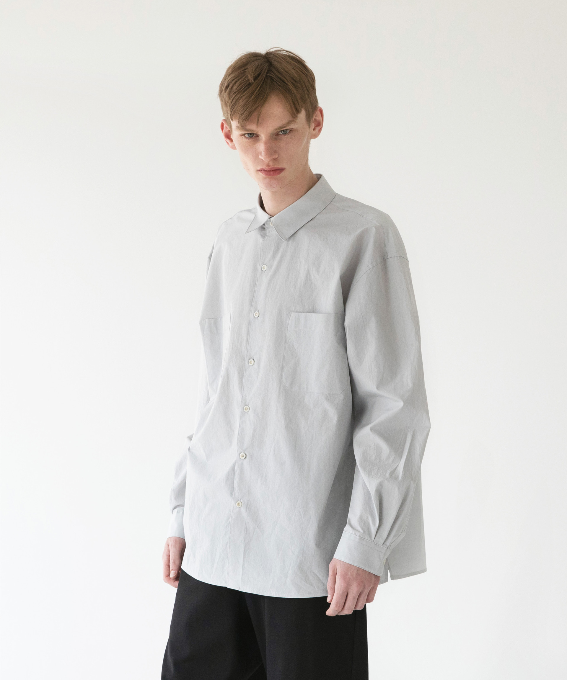 Comfy Oversized Shirt (Dove Gray)