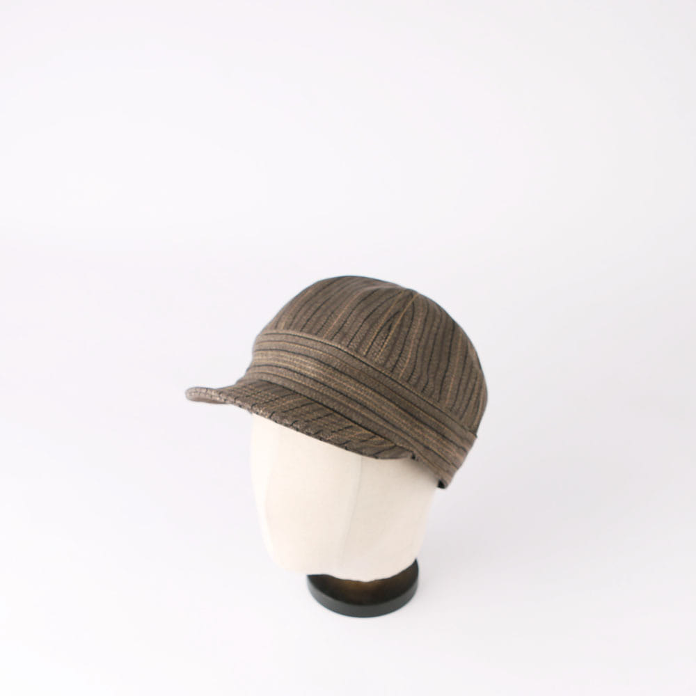 "[Union Special Overalls]Work Cap""GUTHRIE""(Grained Brown Stripe)"