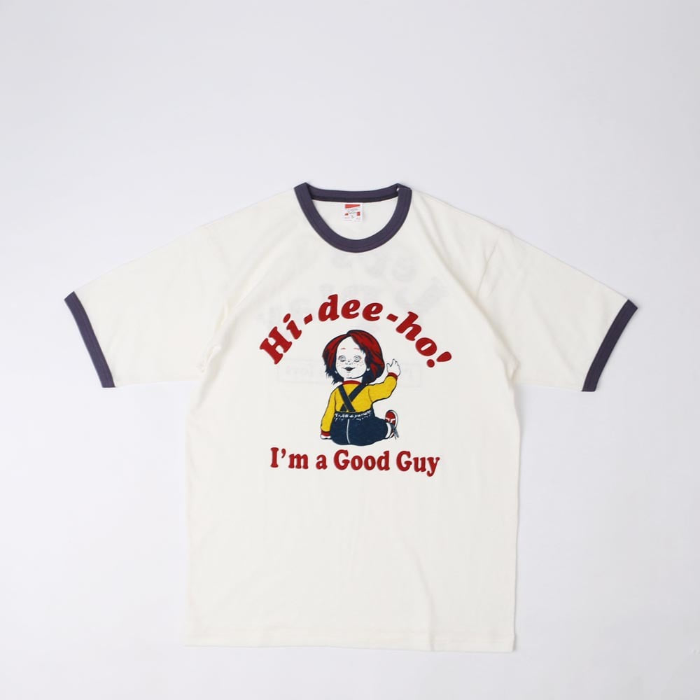 "[Power Wear]Short Sleeve Tee ""GOOD GUY""(Off White x Faded Navy)"