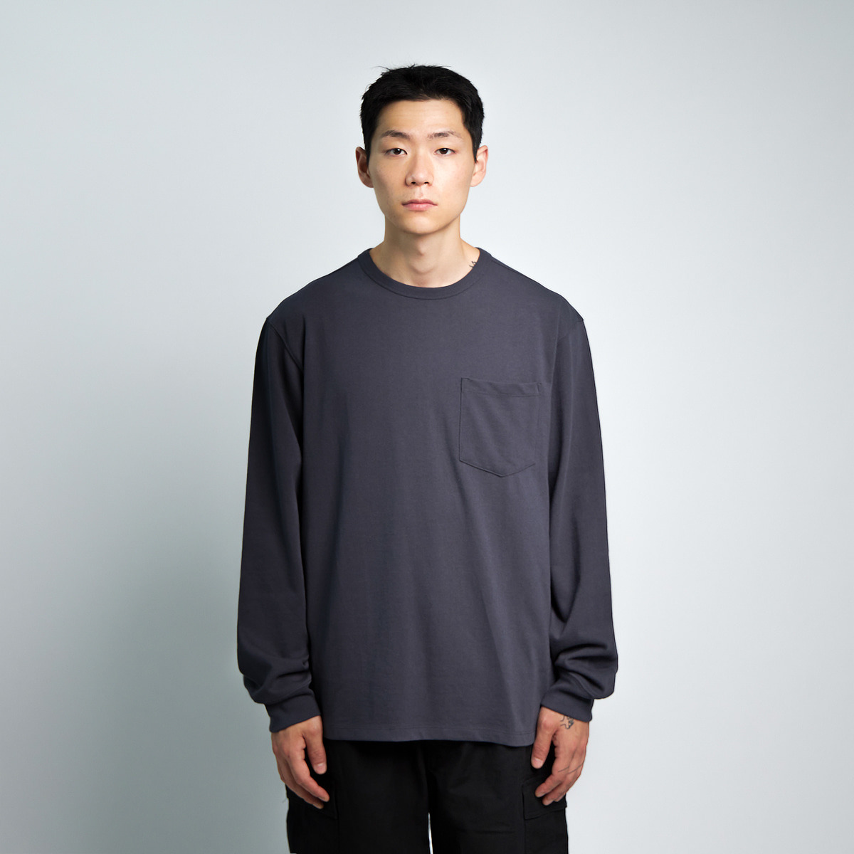 ONE POCKET L/S T-SHIRT (NAVY)