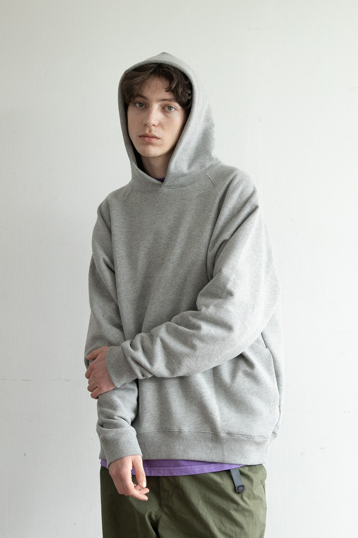 Broad Hoodie Pullover (Heather Gray