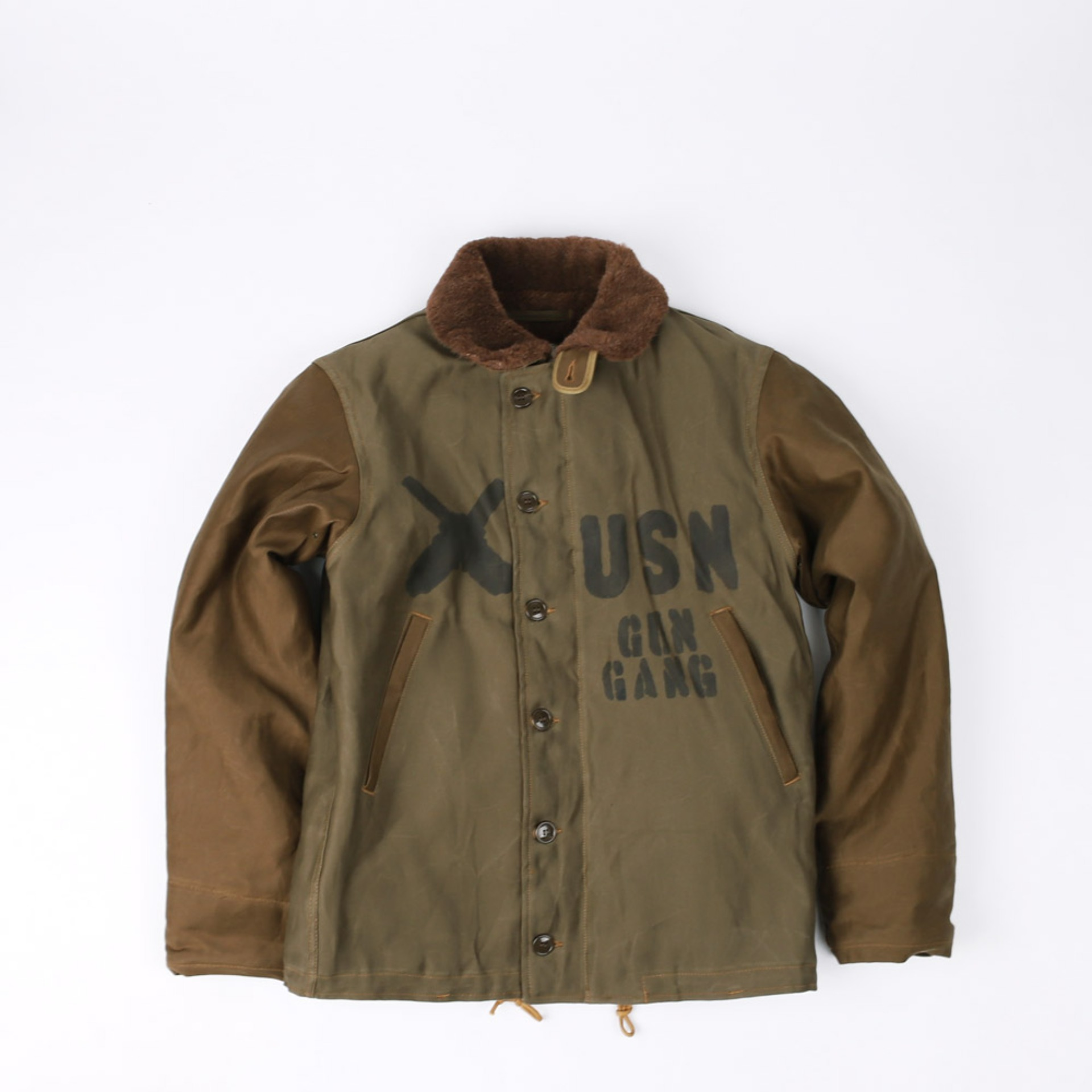 "[Navy Department]TYPE N-1 Deck, Jacket, Zip ""U.S.NAVY GUNNER""(Red Khaki)"