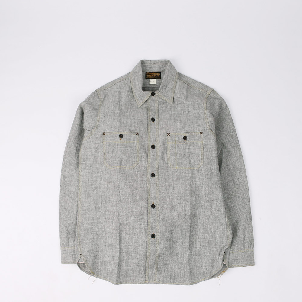 "[Union Special Ovealls]Work Shirt""NEAL""(White Pepper)(RESTOCK)"