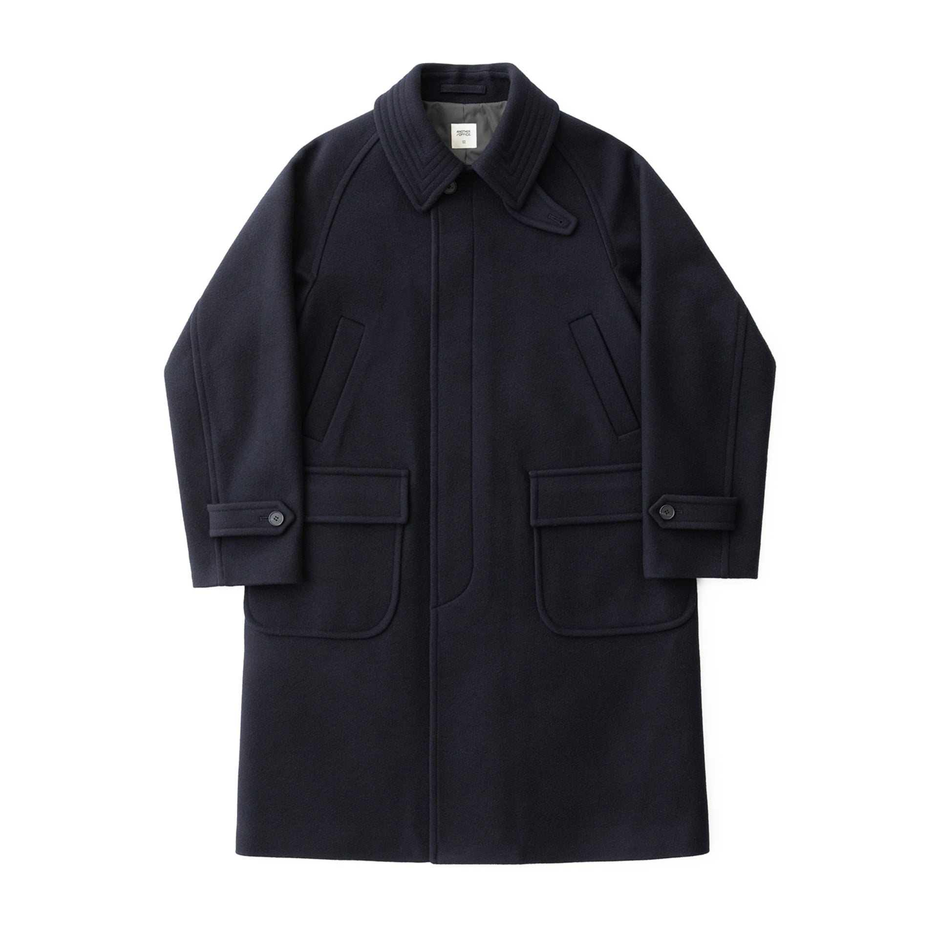 Voyager Balmacaan Coat (Dark Navy)