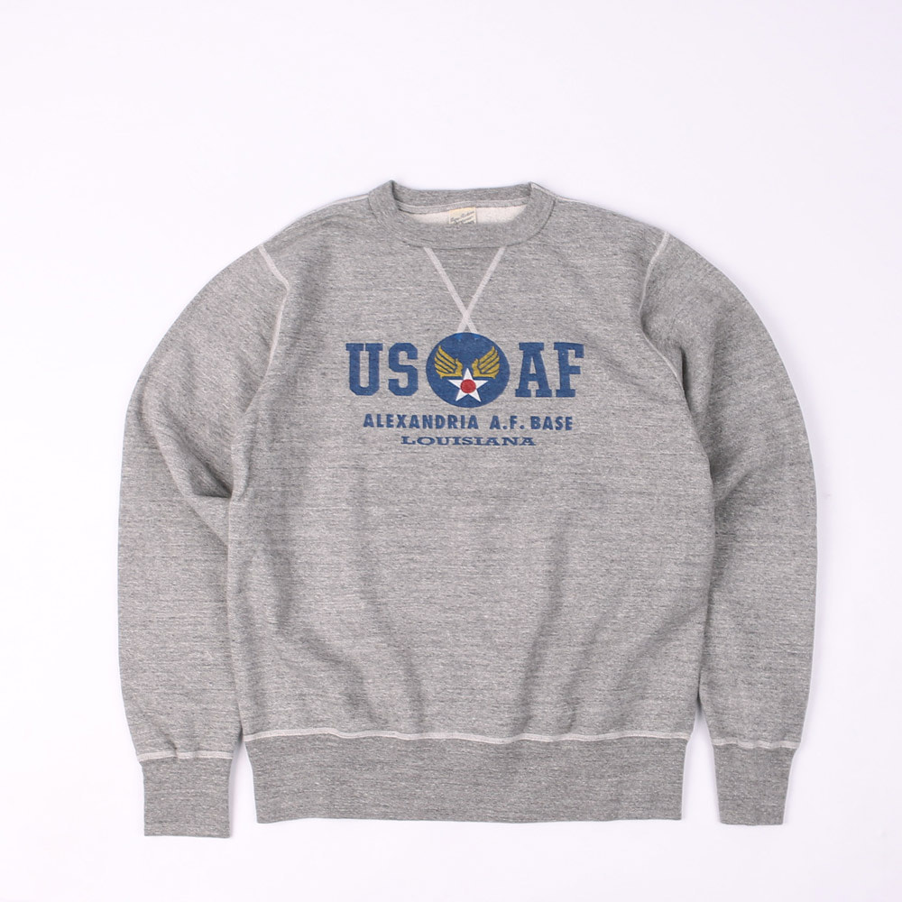 "LoopwheelSweatshirt ""U.S.A.F"" (Heather Gray)"