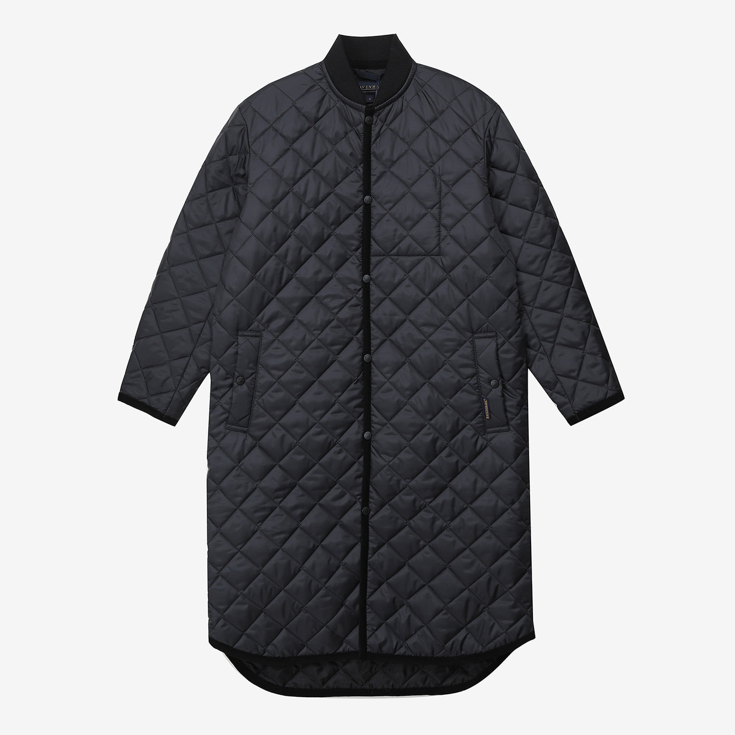 Lavenster Long Bomber Jacket (Black)