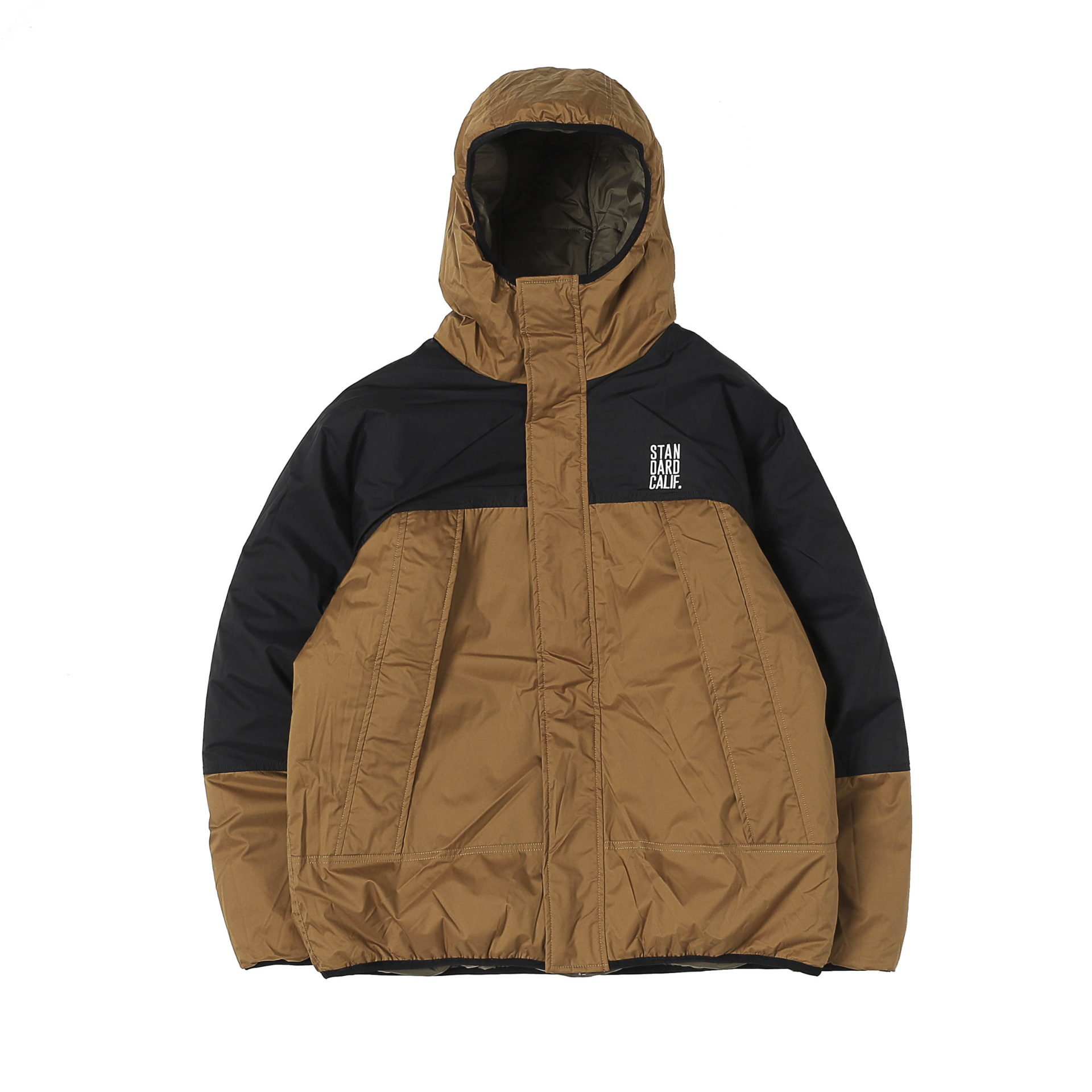 SD Stretch Reversible Puff Parka (Olive/Beige)