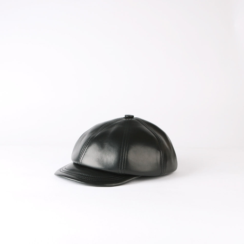 Leather CasquetteLITTLE FEAT CASQUETTE Oiled Horsehide (Black)