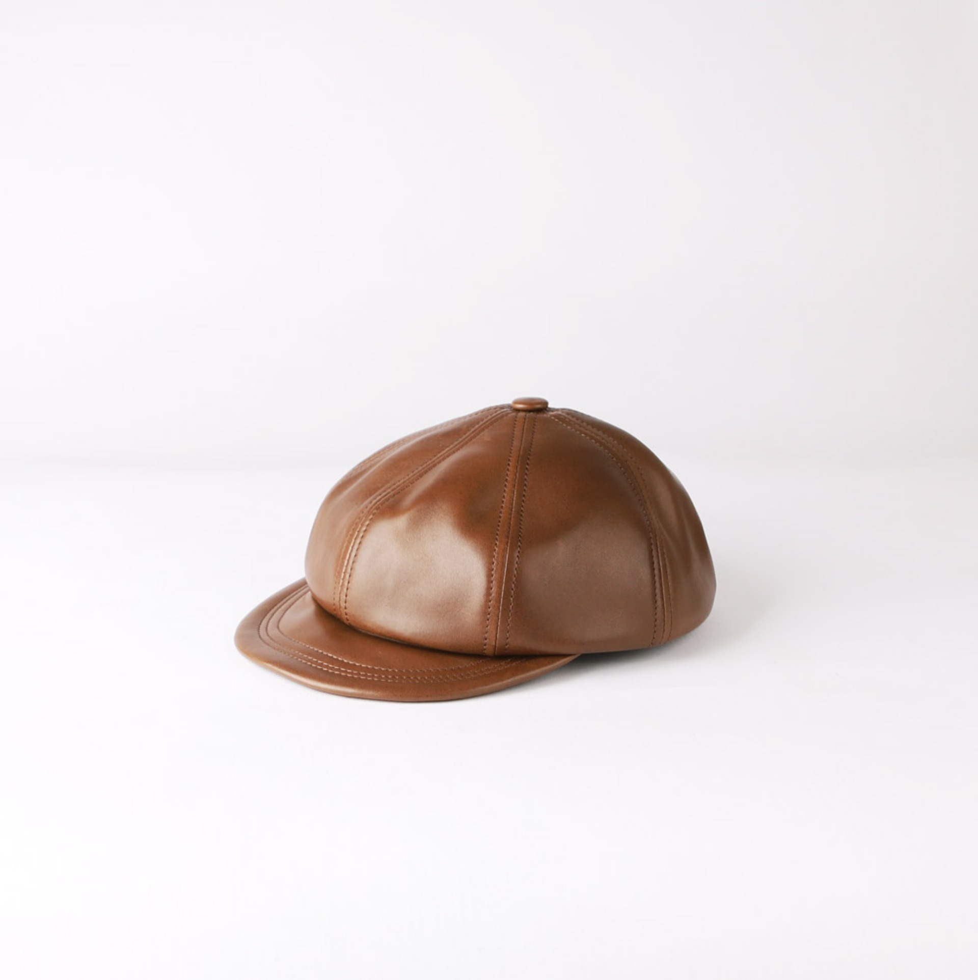 Leather CasquetteLITTLE FEAT CASQUETTE Oiled Horsehide(B-Umber)