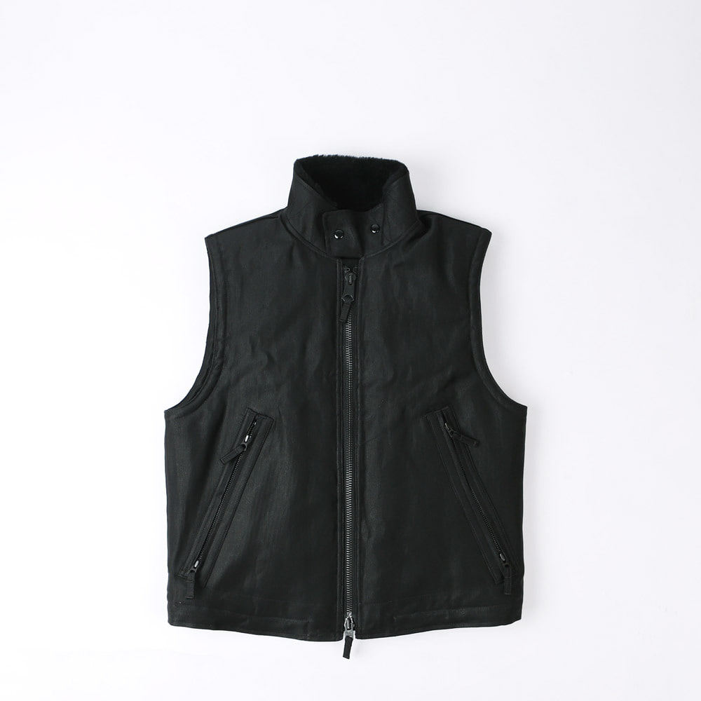 "[Union Special Overalls]Ultimate Evolution Clothing""WINTER UTILITY VEST""(Jet Black)"