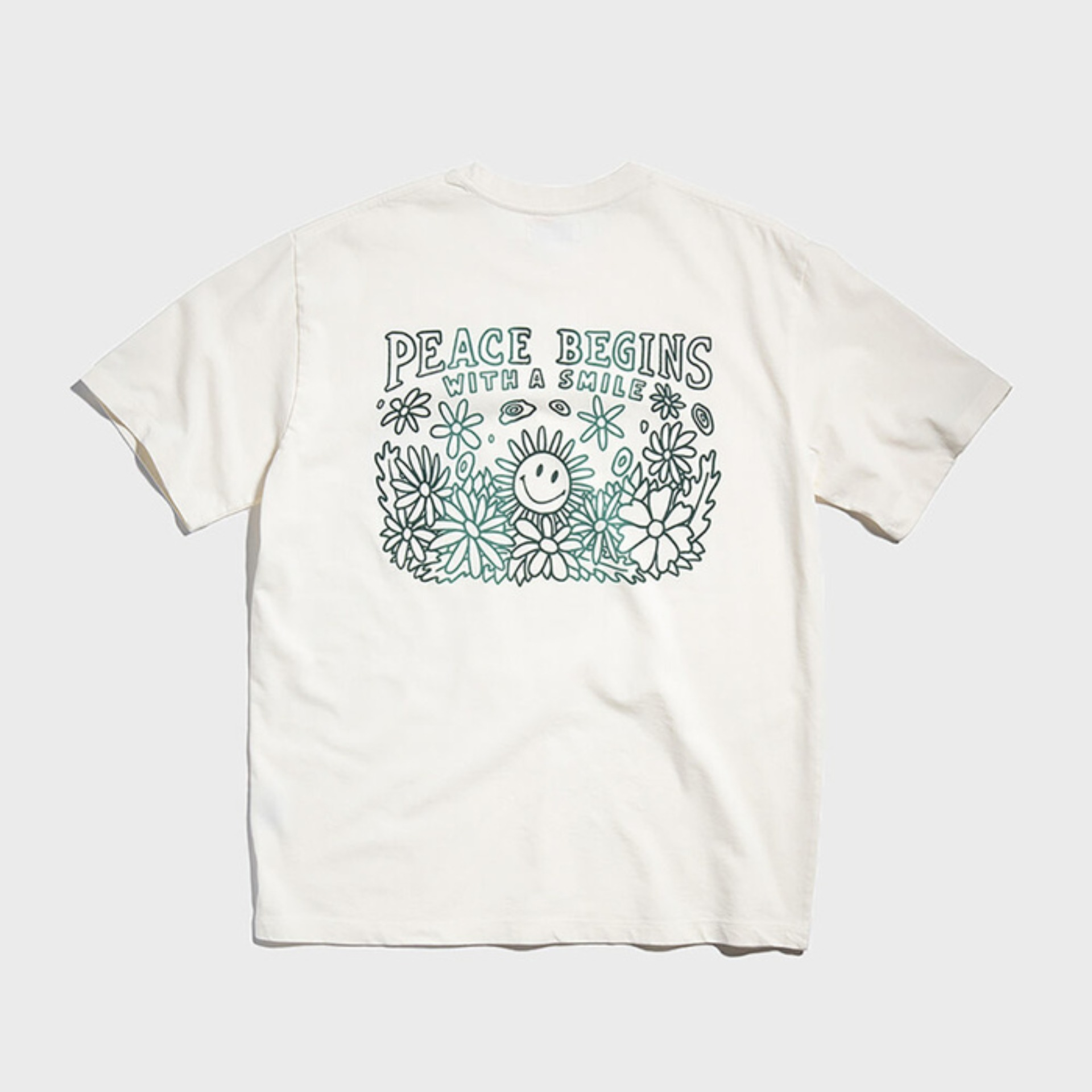 PEACE BEGINS TEE PART 2 (Off White)