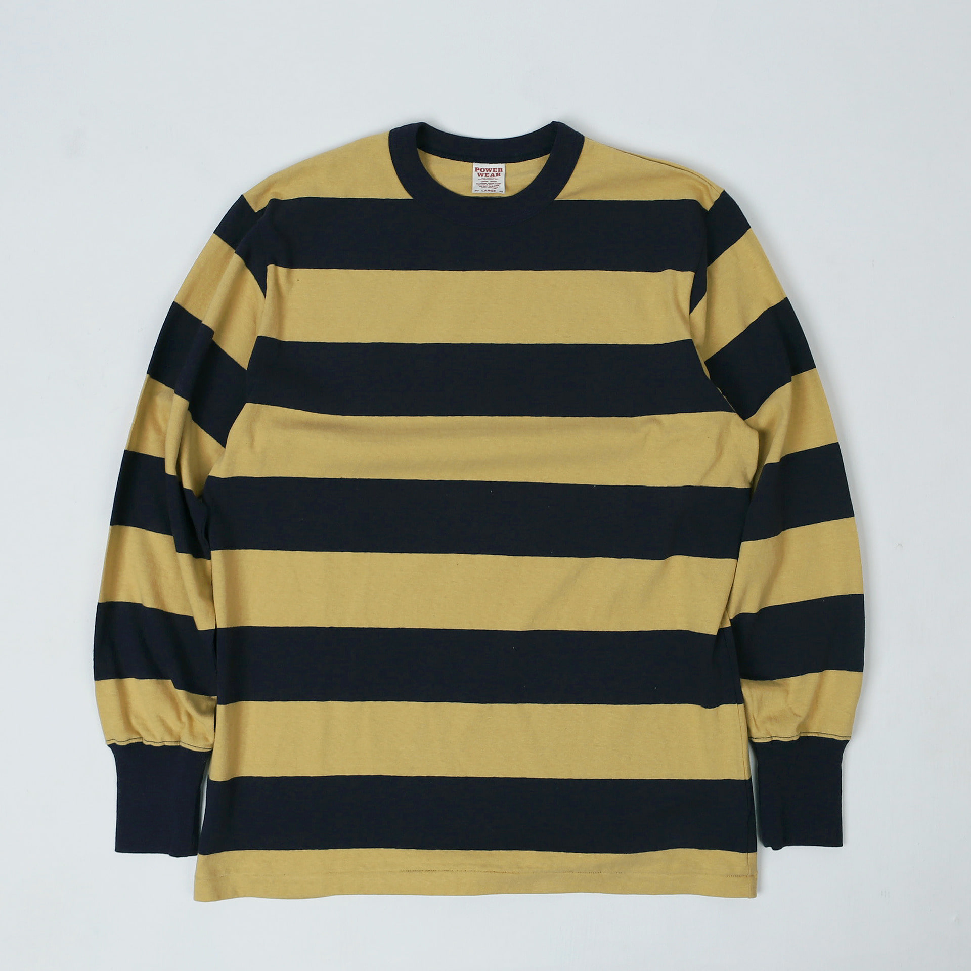 "[Power Wear]Long Sleeve T-Shirt""HORIZONTAL STRIPED""(Sand Beige × Old Navy)"