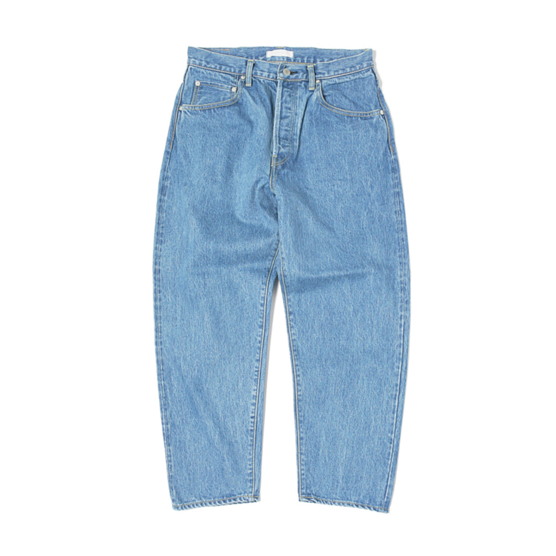 HATSKI LOOSE TAPERED DENIM PANTS(ICE BLUE)