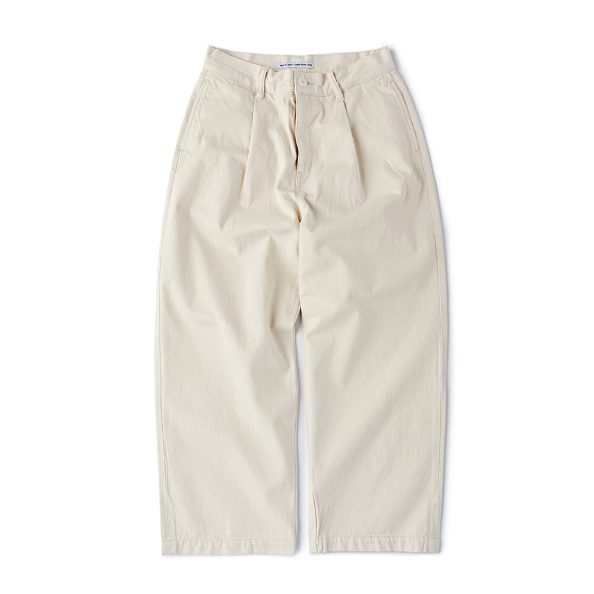 CWETP-001 Easy Tuck Pants(Regular Straight - ECRU)