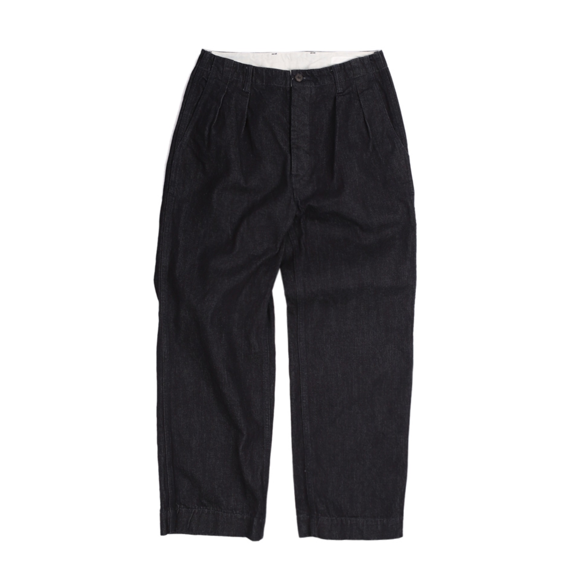 HATSKI 2TUCK DENIM TROUSER(ONE WASH)