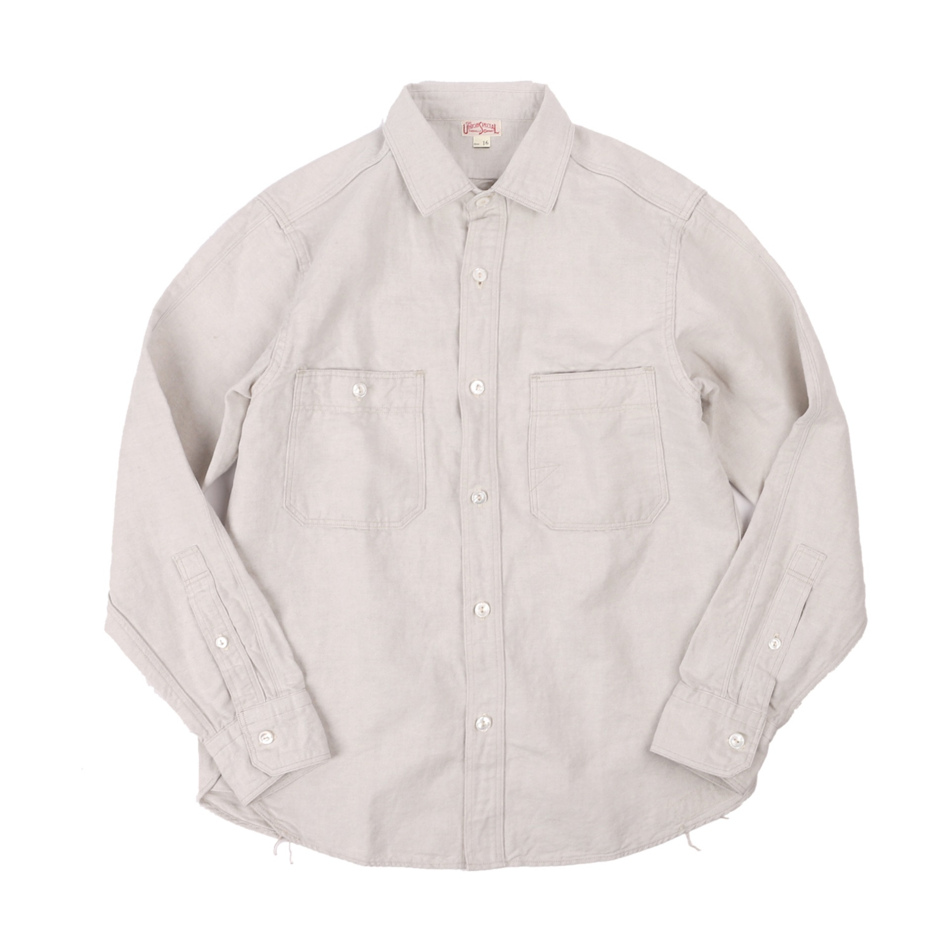 "[The Union Special Overalls]WORK SHIRTS""DIAMOND CRACKER""(IVORY)"