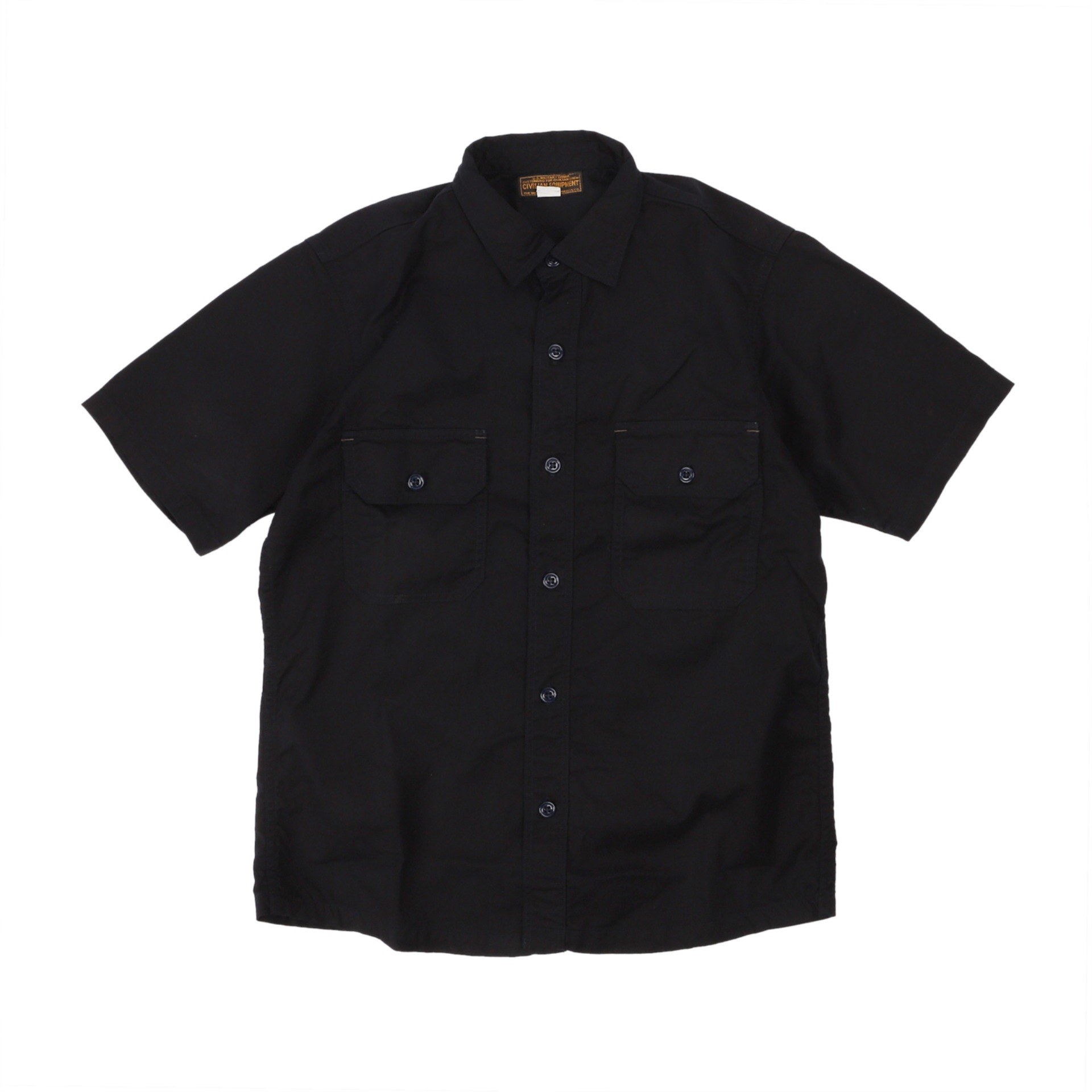 [The Union Special Overalls]CIVILIAN MILITARY  SHIRTSUTILITY SHORT SLEEVE SHIRT(Dark Navy)