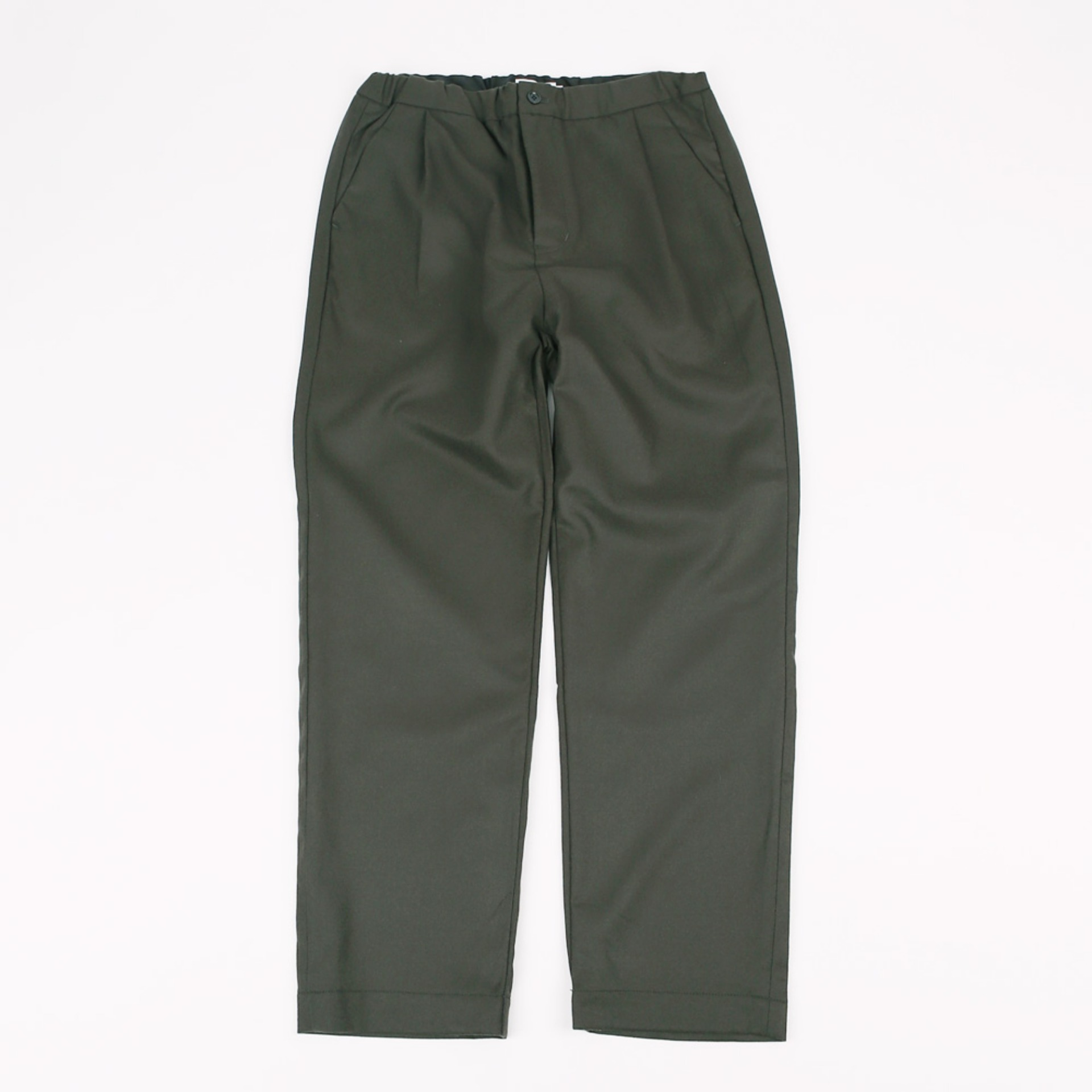 STILL BY HAND MELTON EASY PANTS Charcoal