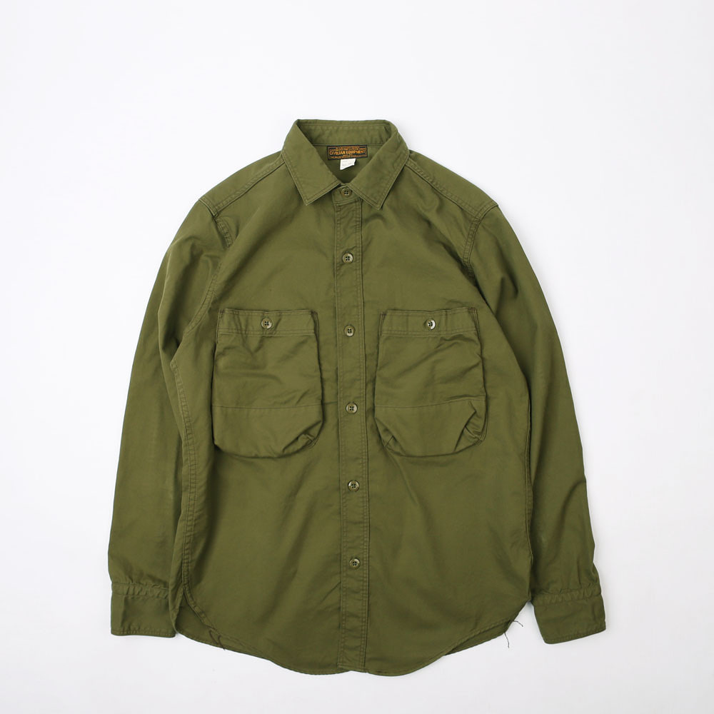 "[Union Special Ovealls]Military Work Shirt""DECK WORKER SHIRTS""(Olive)"