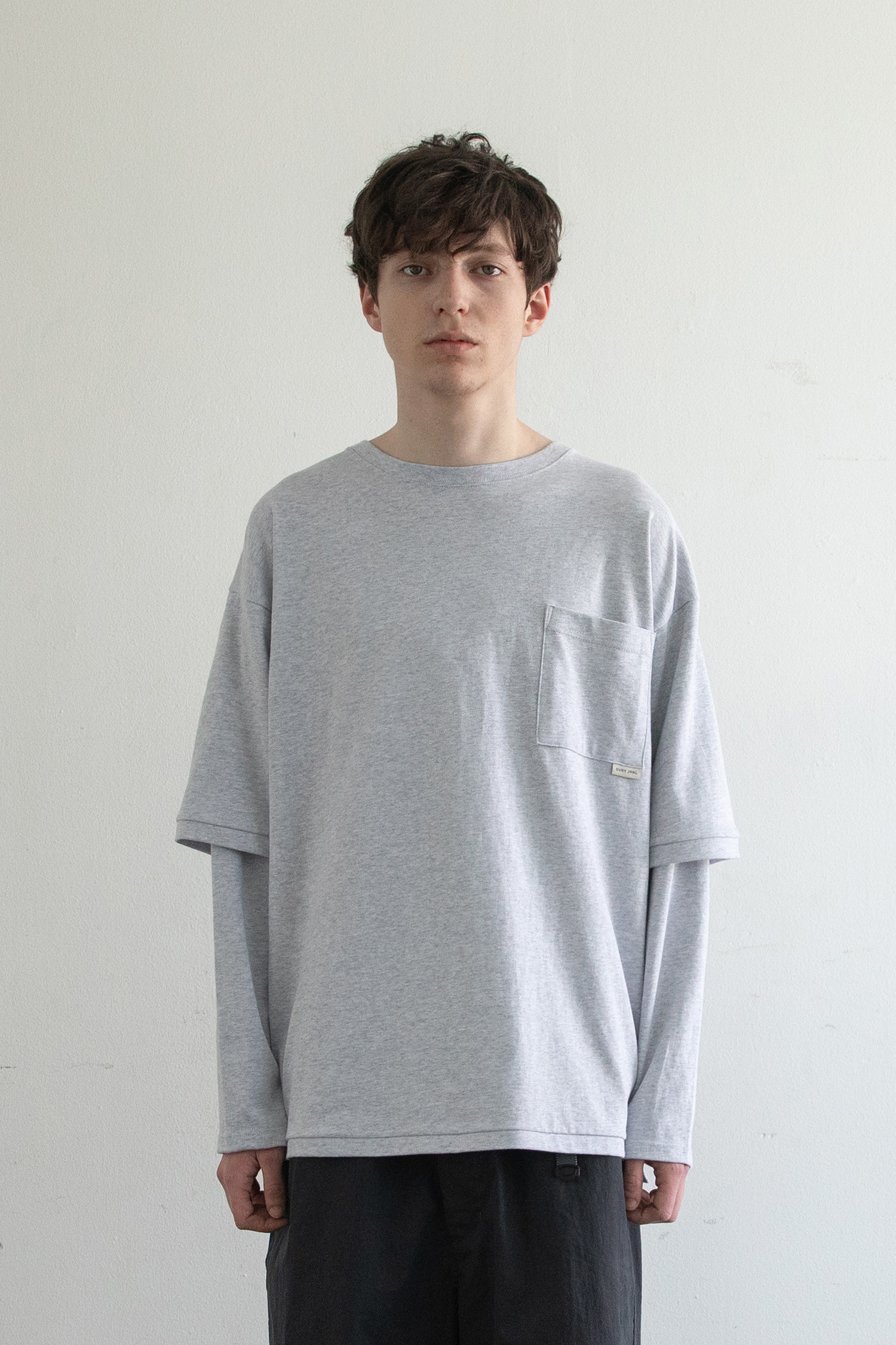 Sk8er Layered T (Heather Gray)
