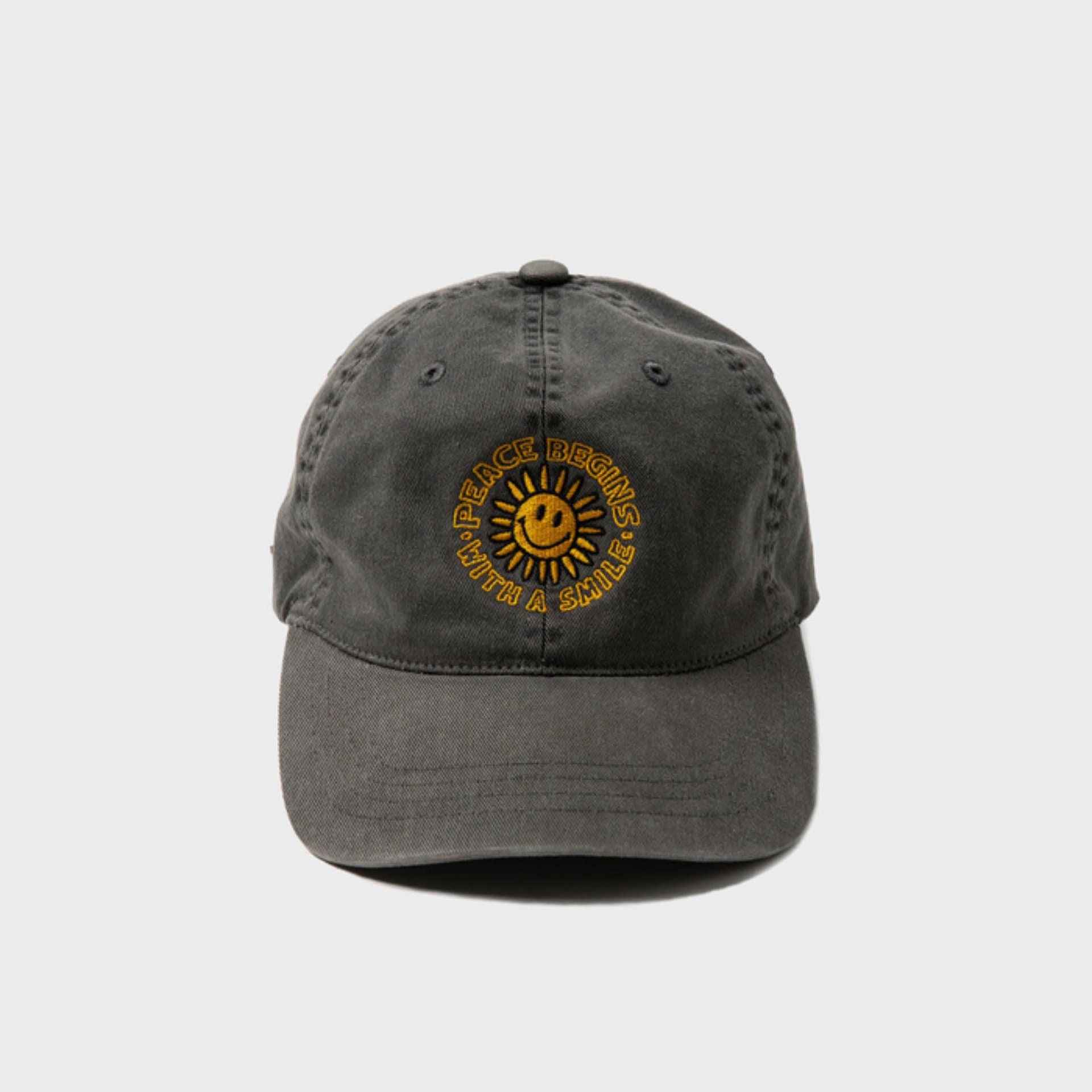 PEACE BEGINS SMILE PIGMENT CAP (BLACK)