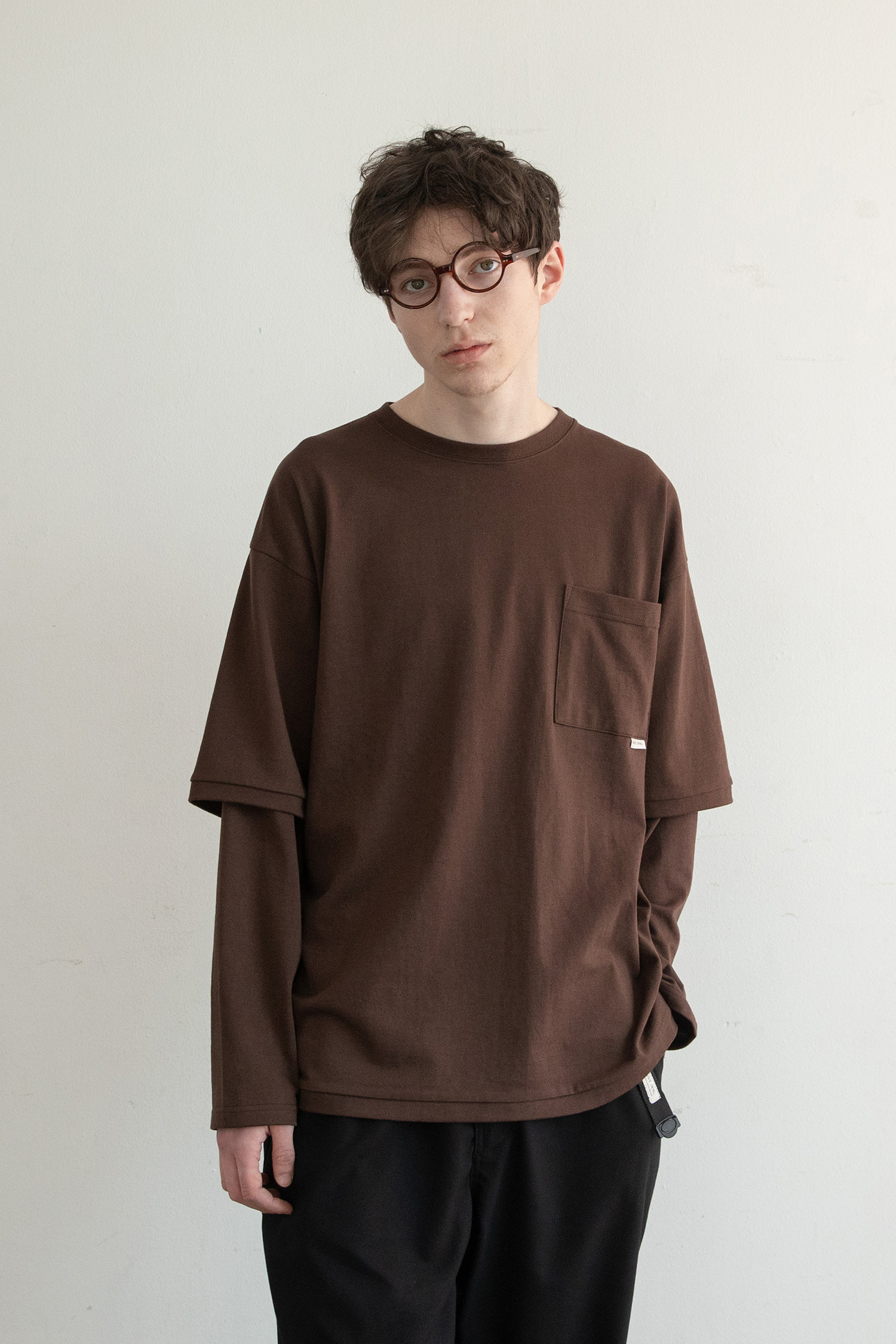 Sk8er Layered T (Brown)