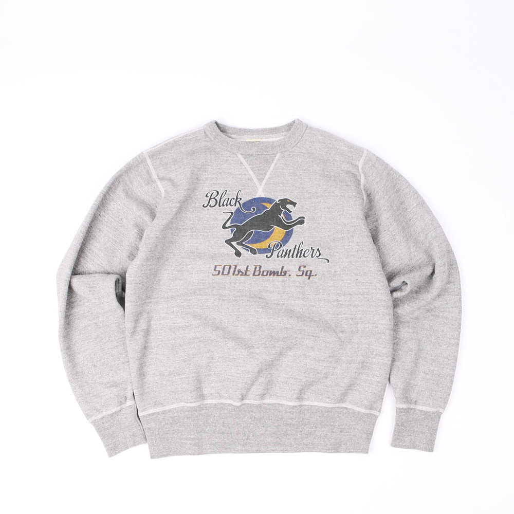 "LoopwheelSweatshirt ""501st BOMB SQD. BLACK PANTHERS""(Heather Gray)"