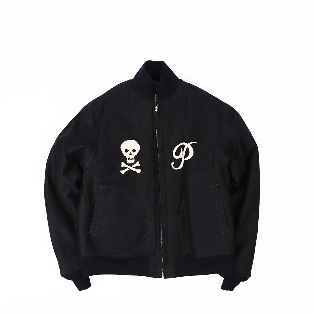 "[Navy Department]Zip Deck, Jacket""U.S.NAVY Pirates"" (Dark Navy)"