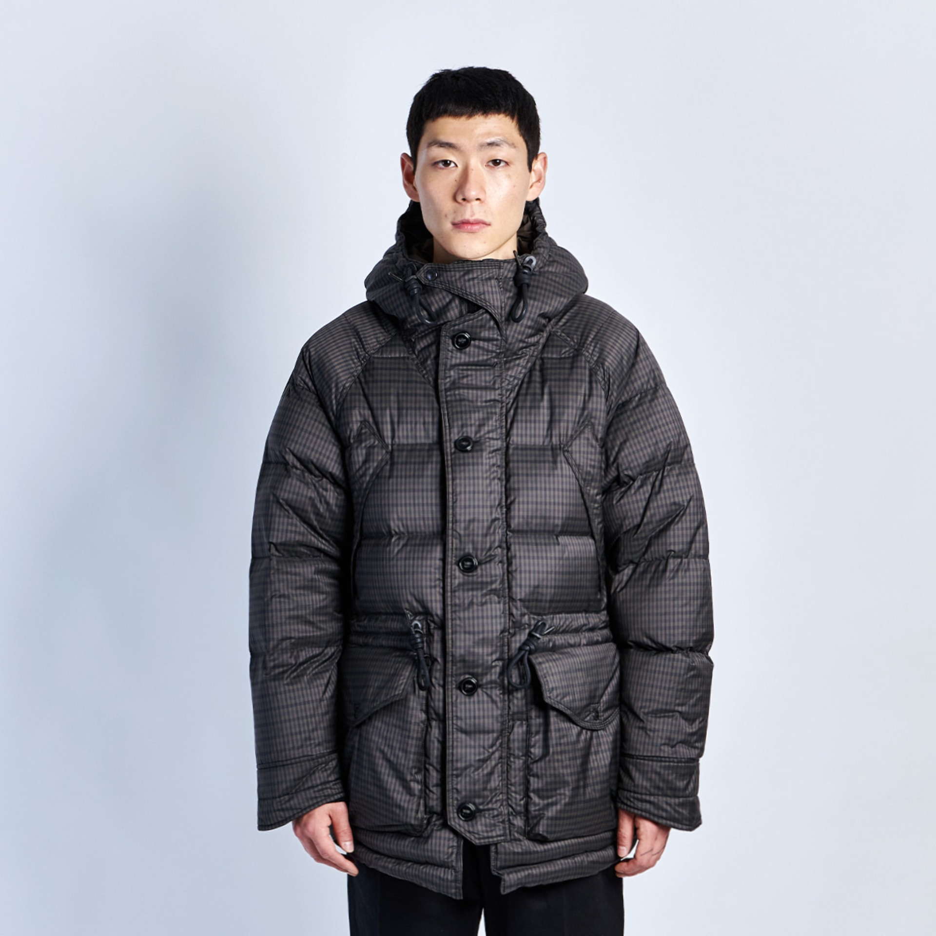 UTILITY SHIELD PARKA (Brown Gingham)