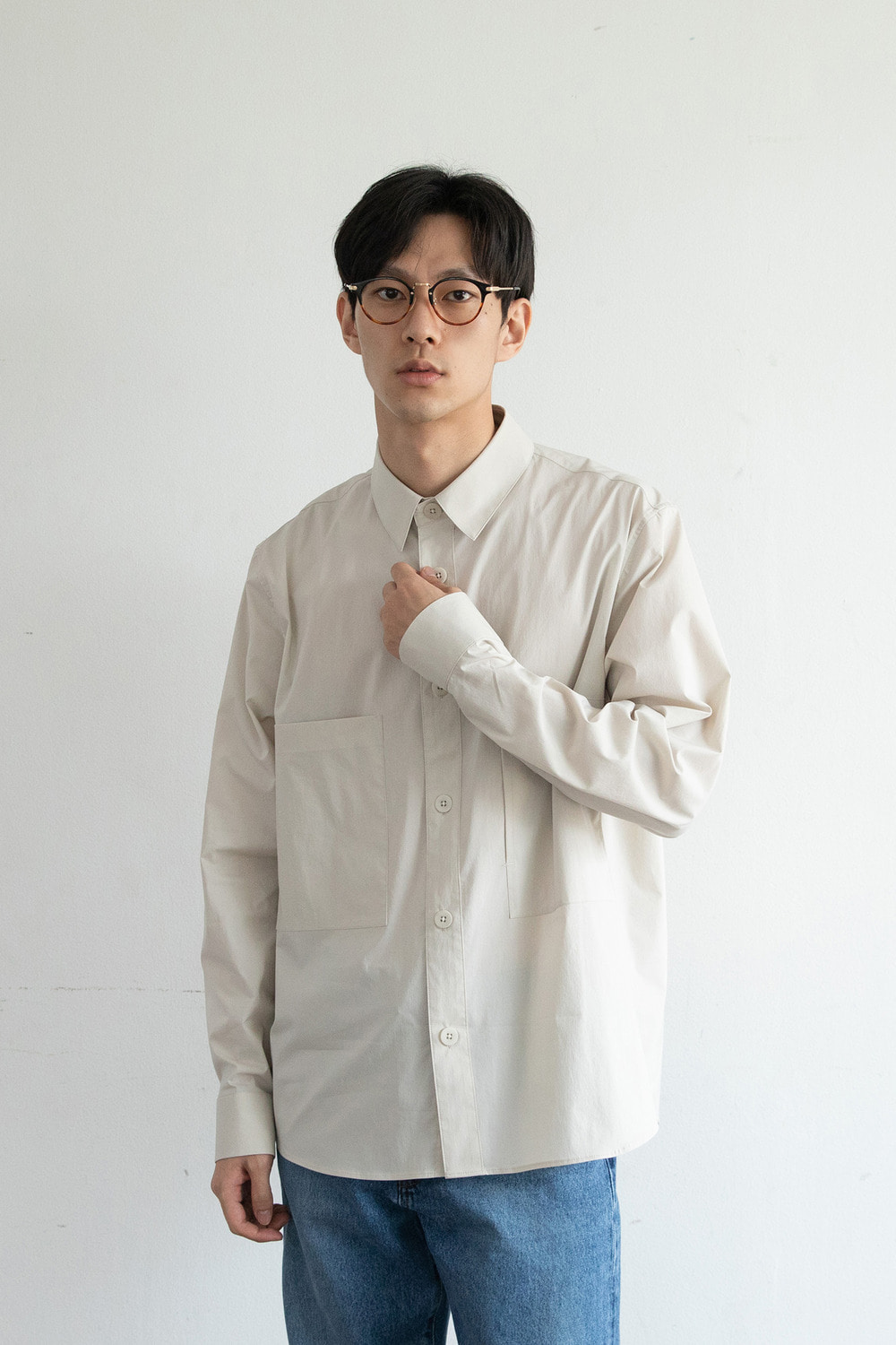 Vast Pocket Shirt (Almond Milk)