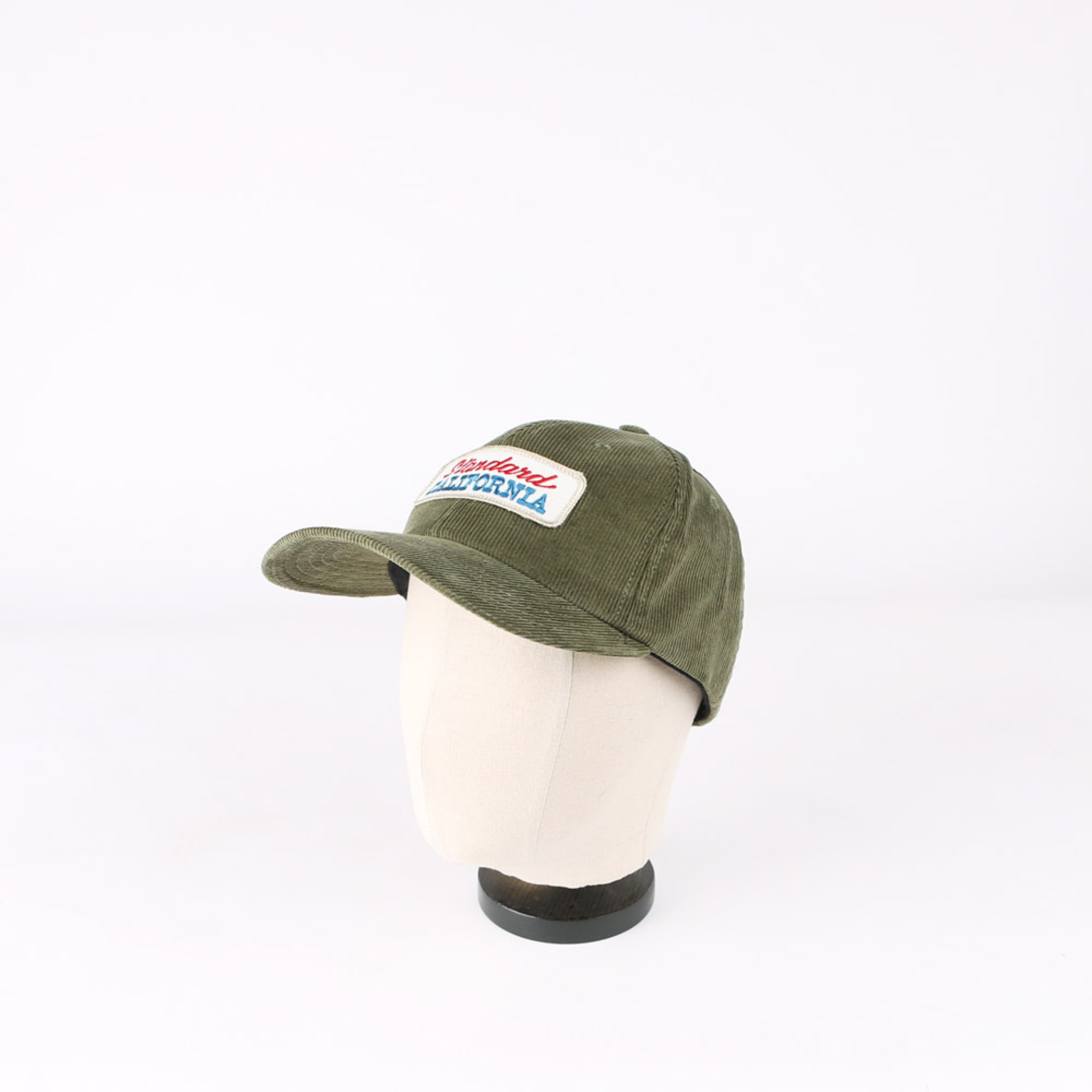SD Logo Patch Corduroy Cap (Olive)