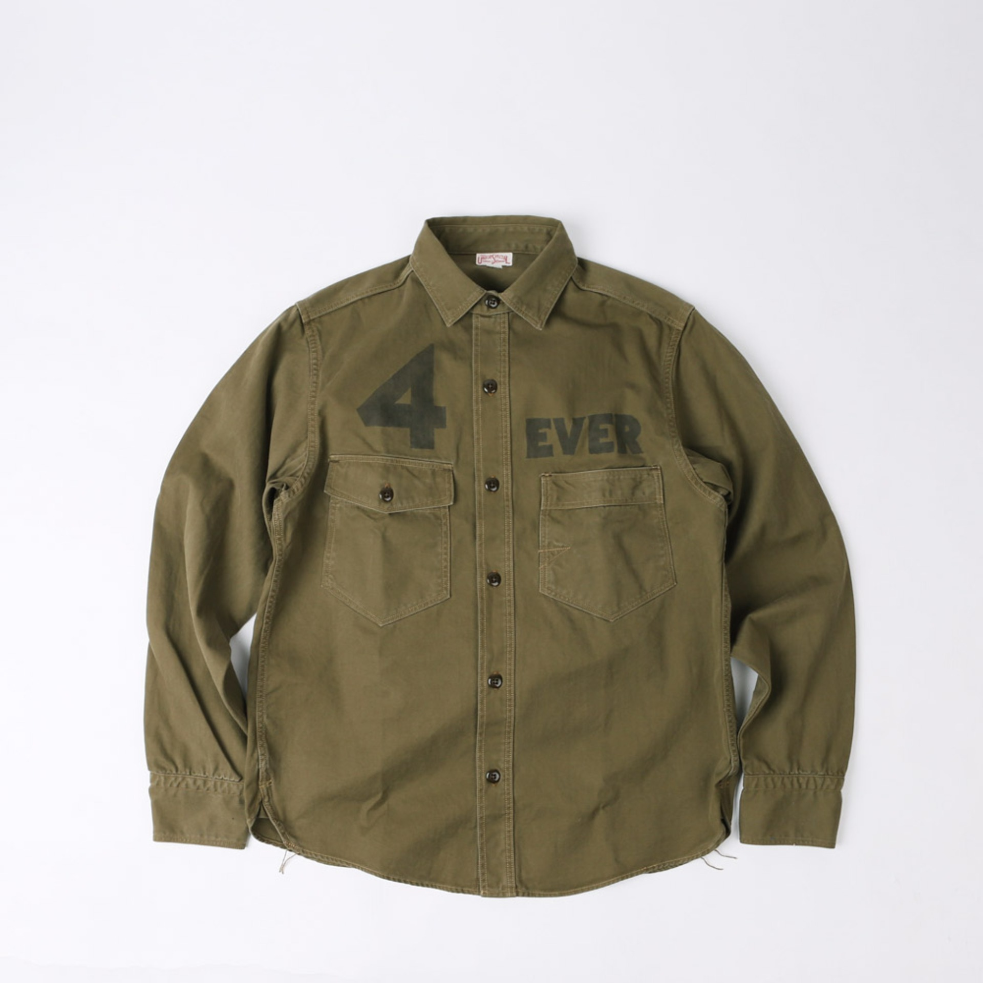 "[Union Special Overalls]Work Shirt""4 BANGERS FOREVER""(Khaki)"